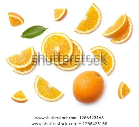 świeże pomarańczowy plasterka cienki plaster pomarańczowy biały Zdjęcia stock © Digifoodstock