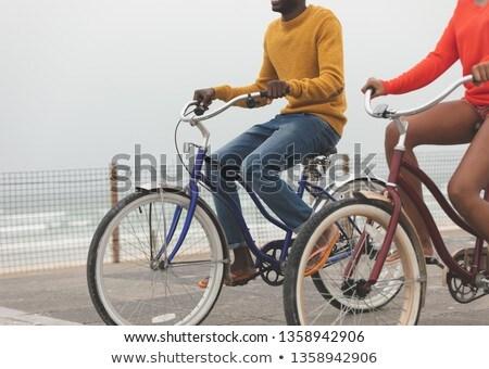 カップル ライディング 自転車 遊歩道 ストックフォト © wavebreak_media