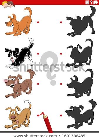 Ombra compito cartoon cane Foto d'archivio © izakowski