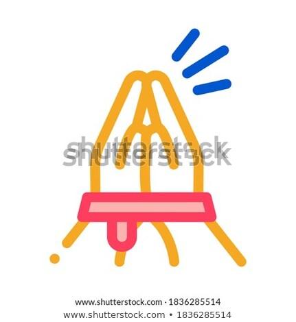 Mani help icona vettore contorno Foto d'archivio © pikepicture