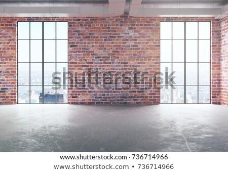 Tuğla taş duvar bo beyaz Bina soyut Stok fotoğraf © IMaster