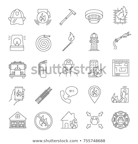 Stock photo: Fire brigade icons set