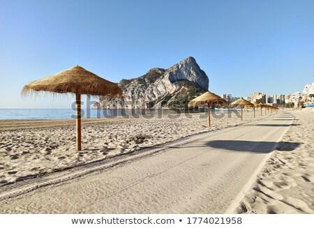 Playa de arena paja vacío playa madrugada naturales Foto stock © amok