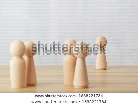 Relationship issues concept using people toy cubes Stock photo © goir