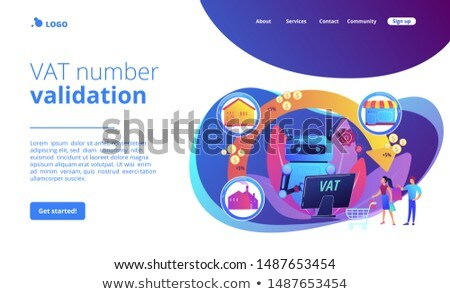 Value added tax system concept landing page Stock photo © RAStudio