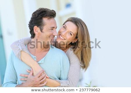 Paar home vrouw haren kamer Stockfoto © photography33