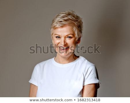 portré · nyugodt · nő · portré · nő · kéz · bőr - stock fotó © photography33