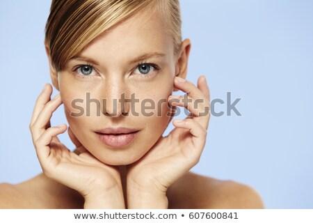 Blond oszałamiający oczy zmysłowy portret cute Zdjęcia stock © carlodapino