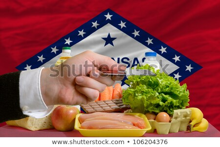Buying Groceries With Credit Card In Us State Of Arkansas Foto stock © vepar5