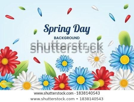Vektör bahar dekoratif kâğıt bahçe çerçeve Stok fotoğraf © RamonaKaulitzki