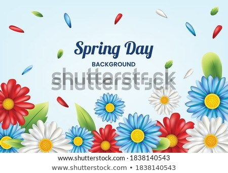 вектора весны декоративный бумаги саду кадр Сток-фото © RamonaKaulitzki