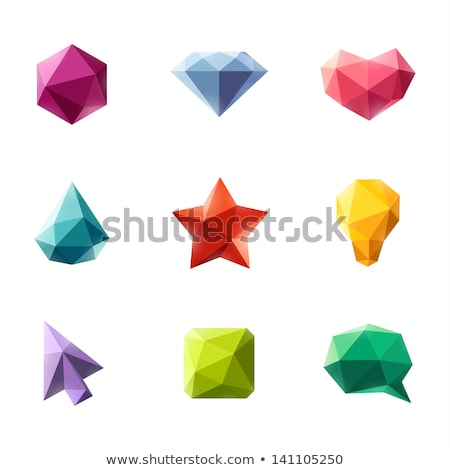Set Of Abstract Colorful Geometric Polygonal Square Photo stock © ussr