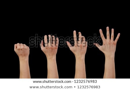 businessman gesturing with hand, isolated on white  Stock photo © meinzahn