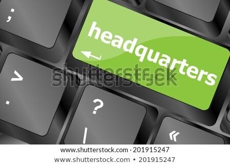 Headquarters Word On Computer Pc Keyboard Key Сток-фото © fotoscool