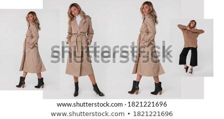 studio shot of trendy fashion model in pants and blouse stock photo © gromovataya