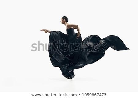 Dansçı dans beyaz çıplak parti mutlu Stok fotoğraf © Elnur