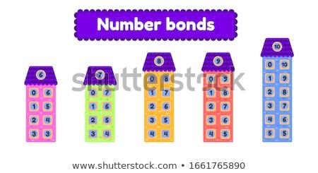 Matematyki numer szkoły dziecko karty nauki Zdjęcia stock © bluering