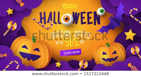 Autumn Discount Halloween Poster Stock photo © barbaliss