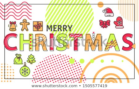 Joyeux Noël bannière lumineuses linéaire Photo stock © robuart