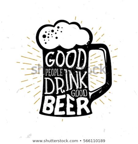 Szkła piwa wyrażenie pić ilustracja tle Zdjęcia stock © colematt
