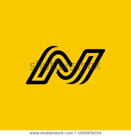 Letter N Logo. N Letter Design Vector stock photo © twindesigner