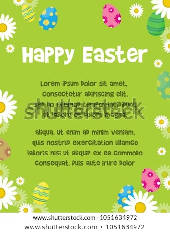 Húsvét jelenet színes tojások húsvéti tojások nyúl friss Stock fotó © neirfy