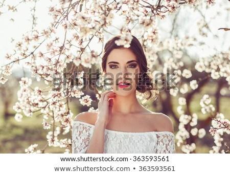 小さな · 美しい · 花嫁 · 庭園 · 結婚式 · 日 - ストックフォト © ElenaBatkova