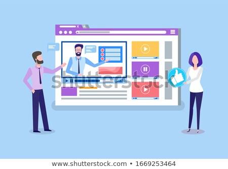 Online Courses Teachers Uploading Tutoring Videos Stock photo © robuart