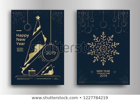Vintage christmas bericht poster Stockfoto © balasoiu