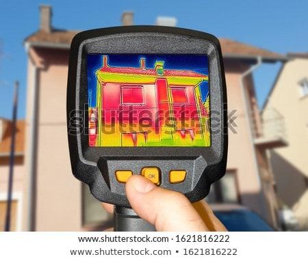 Recording Heat Loss at the family House  Stock photo © smuki