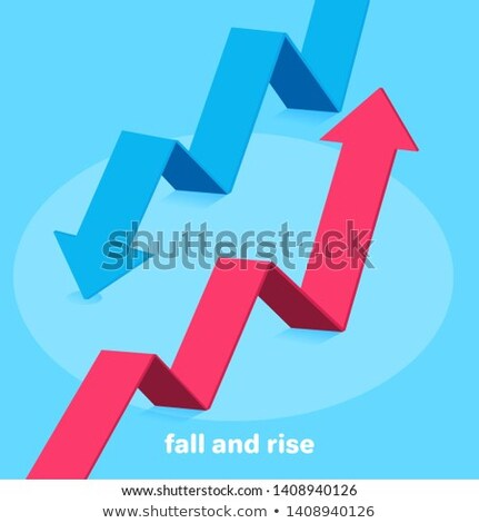 Money icon with arrows, capital decrease and increase, dollar rate increase, investment concept. Sto Stock photo © kyryloff