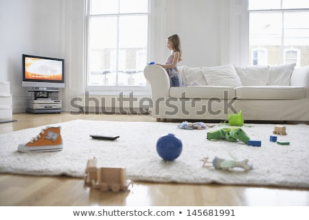 Scene with girl playing in the room Stock photo © bluering