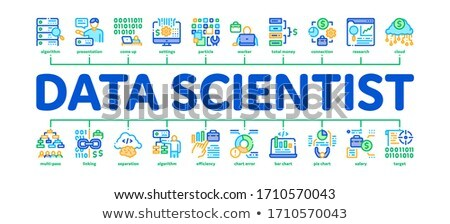 Data Scientist Worker Minimal Infographic Banner Vector Stock photo © pikepicture