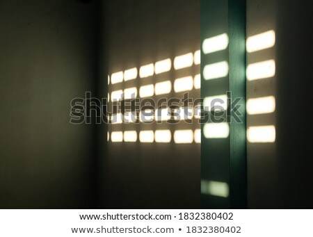 Sunlight reflection on curved blue surface and wall background 3 Stock photo © sedatseven