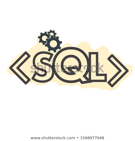 Text Sql Structured Query Language Sigh Stroke Symbol Photo stock © Supertrooper