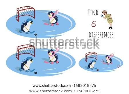 Farklılıklar oyun karikatür örnek Stok fotoğraf © izakowski