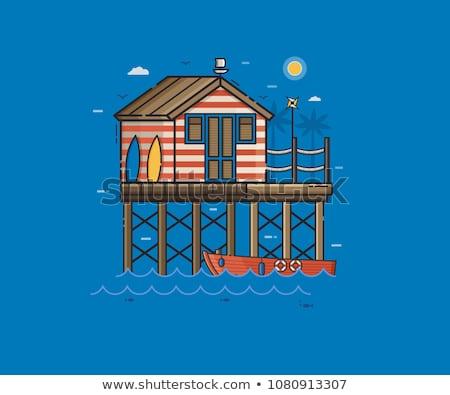 Cabine pescador típico francês casa Foto stock © ivonnewierink