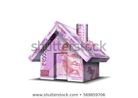 Rupee Bank Notes House Stock photo © albund