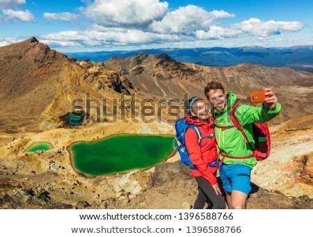 Yürüyüş adam Yeni Zelanda seyahat alpine Stok fotoğraf © Maridav