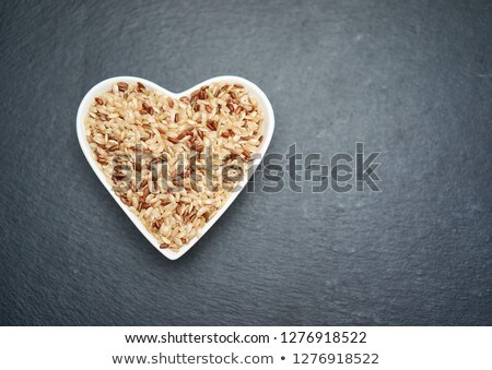 Coffee Beans In Heart Shaped Bowl Isolated Stock photo © ThreeArt