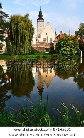 Park in Telc town Czech Republic  Stock photo © artush