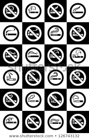 No smoking and Smoking area labels - Big set Stock photo © Ecelop