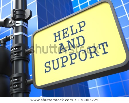 helpen · ondersteuning · wegwijzer · woorden · advies - stockfoto © tashatuvango