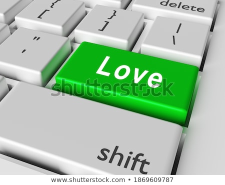 Computer keyboard with amour word on enter button Stock photo © fotoscool