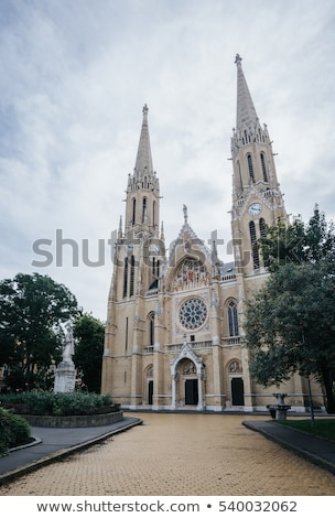 Cathedral of St. Elizabeth with garden Stock photo © Kayco