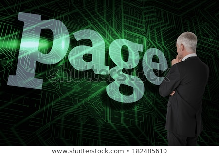 page against green and black circuit board stock photo © wavebreak_media