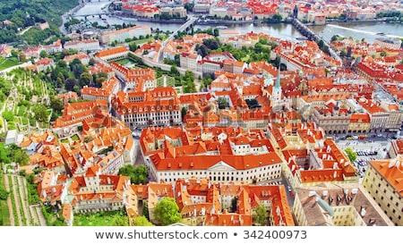 Overview of old Prague Stock photo © AndreyKr