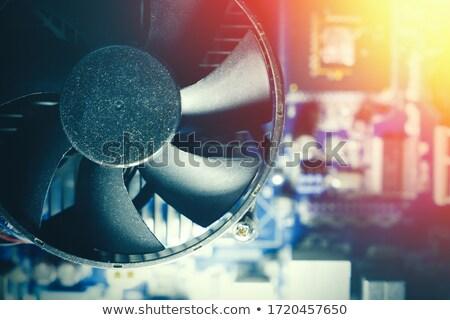 Cpu soğutma fan yalıtılmış beyaz teknoloji Stok fotoğraf © AEyZRiO