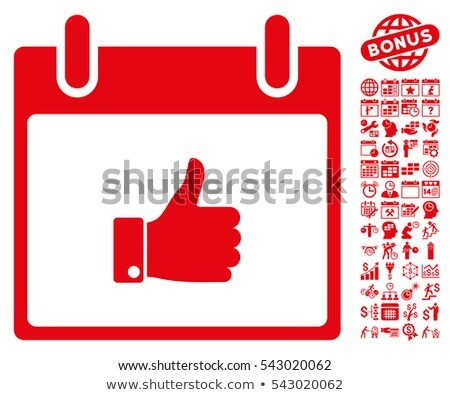 thumbs up red sticky notes vector icon design stock photo © rizwanali3d