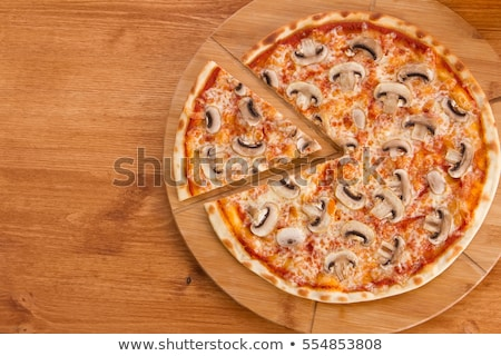 Pizza setas vegetales superficial alimentos restaurante Foto stock © fanfo